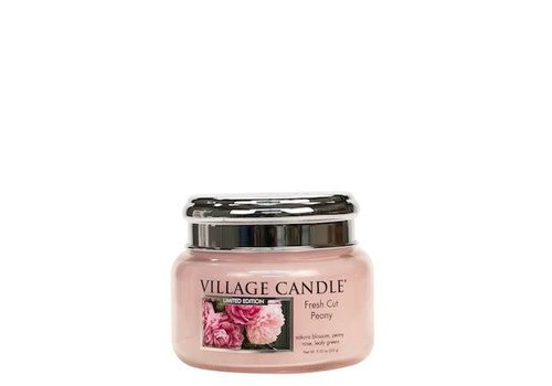 VILLAGE CANDLE SMALL CANDLE - FRESH CUT PEONY