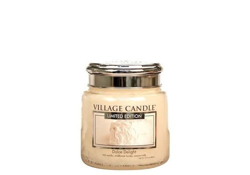 VILLAGE CANDLE MEDIUM CANDLE - DOLCE DELIGHT