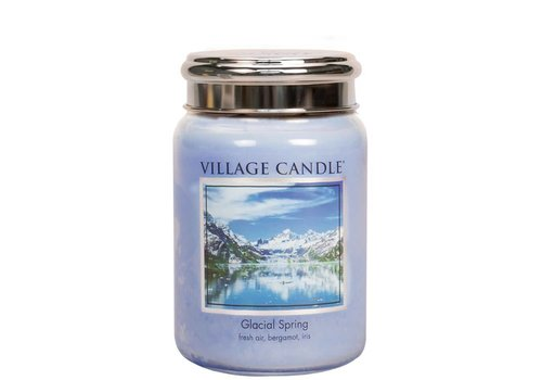 VILLAGE CANDLE LARGE CANDLE - GLACIAL SPRING
