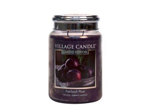 VILLAGE CANDLE LARGE CANDLE - PATCHOULI PLUM
