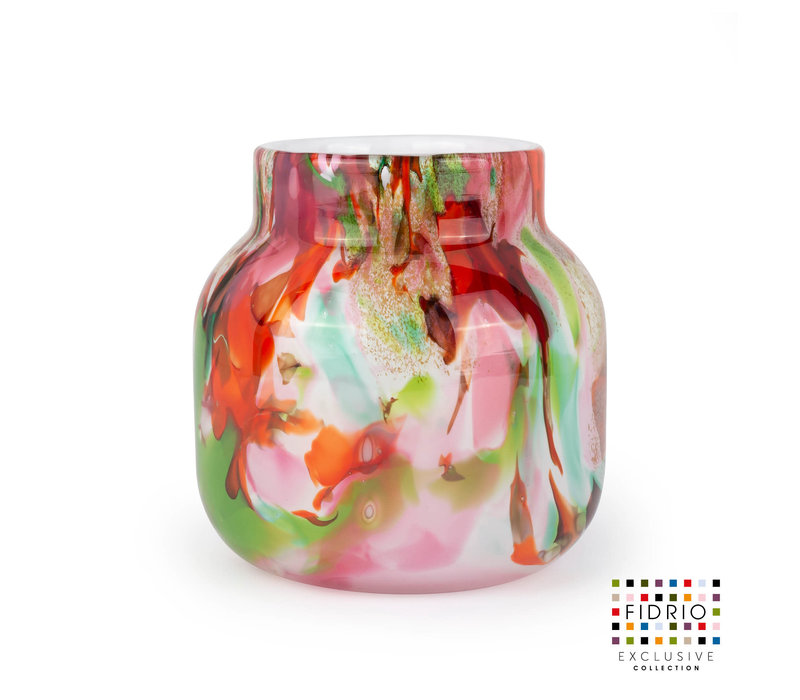 FIDRIO - VASE BLOOM H.15 MIXED COLOURS