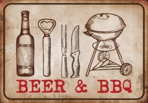 HAMAT BBQ MATTEN - BEER & BBQ 50X75