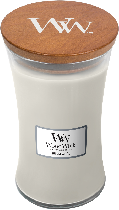 LARGE CANDLE - WARM WOOL