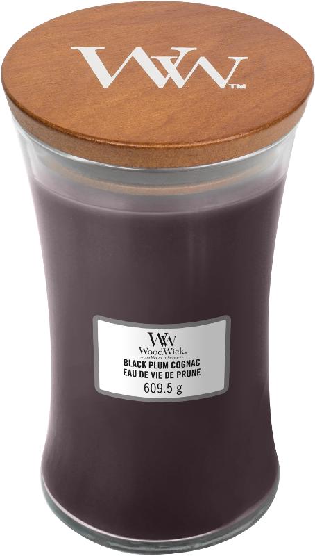 LARGE CANDLE - BLACK PLUM COGNAC