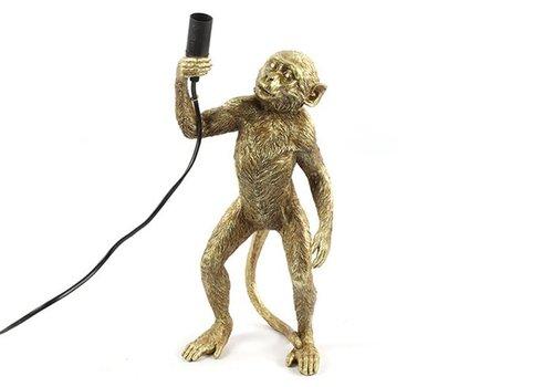 COUNTRYFIELD Tafellamp aap E14 Cheeta goud