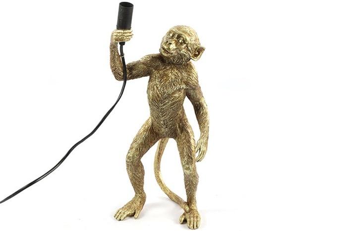 Tafellamp aap E14 Cheeta goud