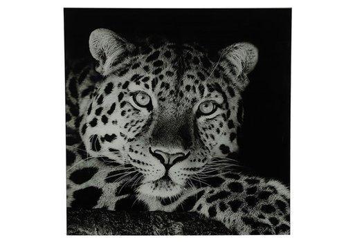 COUNTRYFIELD Schilderij luipaard A vk Wild life L zwart/wit