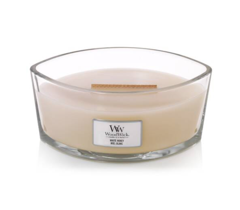 WHITE HONEY ELLIPSE CANDLE