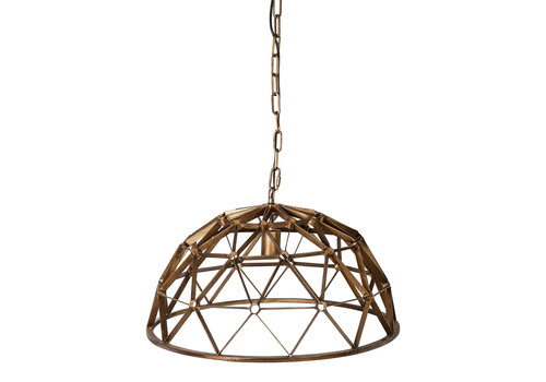 PTMD DENVER GOLD HANGING LAMP GEOMETRIC DESIGN ROUND