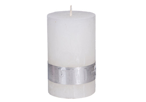 PTMD RUSTIC HOT WHITE PILLAR CANDLE 8X5