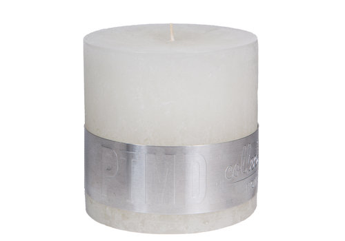 PTMD RUSTIC HOT WHITE BLOCK CANDLE 10X10
