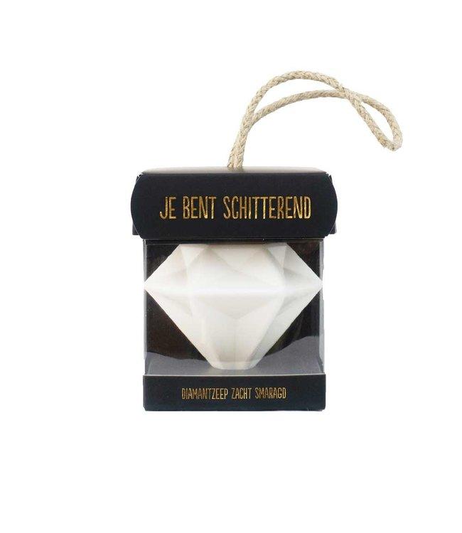 100% LEUK Cadeauzeep diamant je bent schitterend