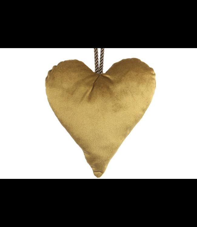 Kersthanger hart goud