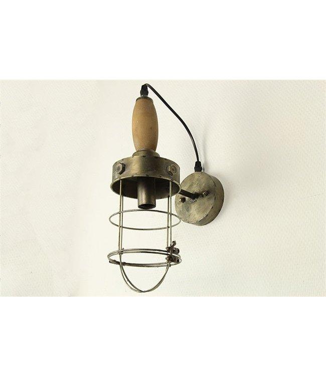 Wandlamp E14 Mattijn grijs