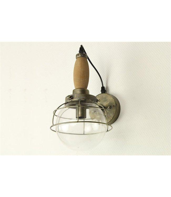 COUNTRYFIELD Wandlamp E14 Mattijn grijs