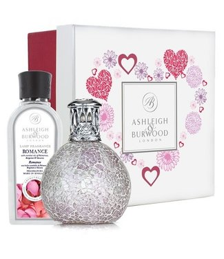FROSTED ROSE FRAGRANCE LAMP + 250ML ROMANCE