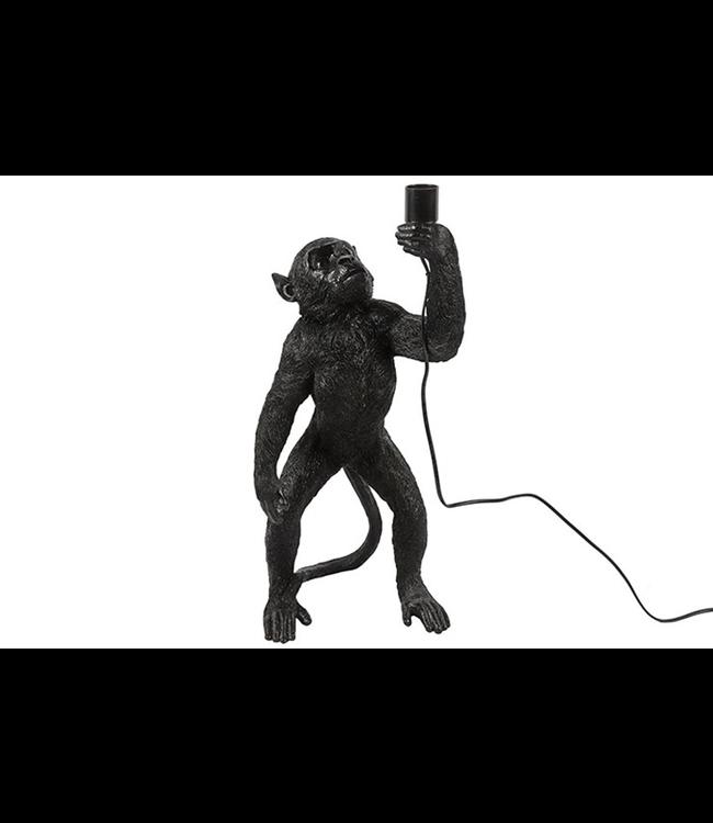 Tafellamp Anton aap zwart