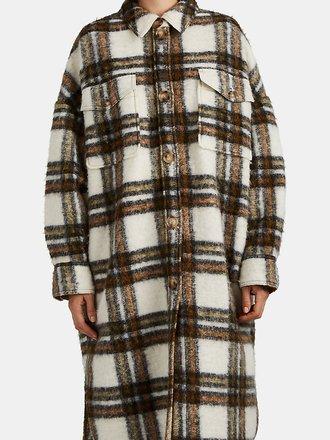 ea96ce6b2746b0 marant Oversized Checked Coat