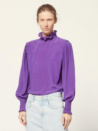 c46d9cba359d14 marant Silk Purple Top