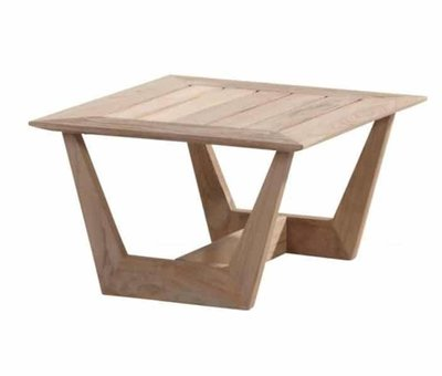 4 Seasons Outdoor Cancun lounge tuintafel 70 cm vierkant teak 4-Seasons Outdoor