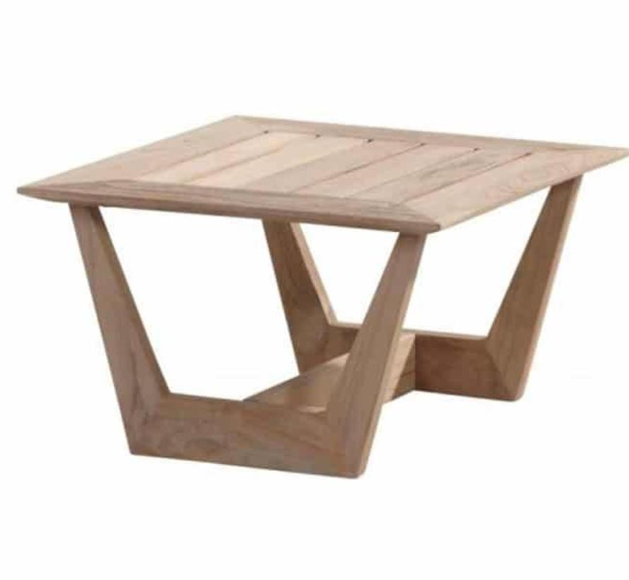 Cancun lounge tuintafel 70 cm vierkant teak 4-Seasons Outdoor