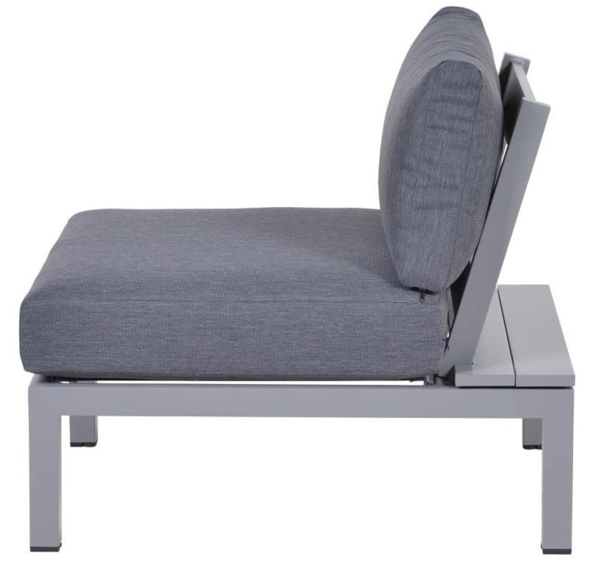 Annabella middenelement aluminium grijs