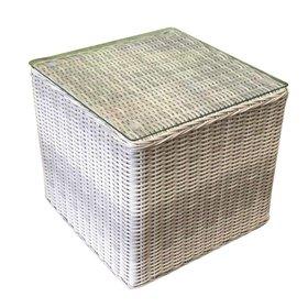 AVH-Collectie Bijzettafel 50x50xH45 cm wit grijs