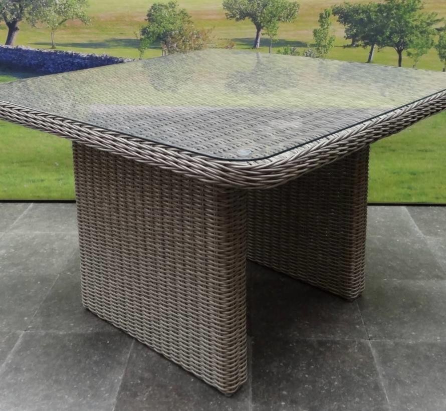 Bilbao lounge-diningtafel 110x110xH70 cm grijs