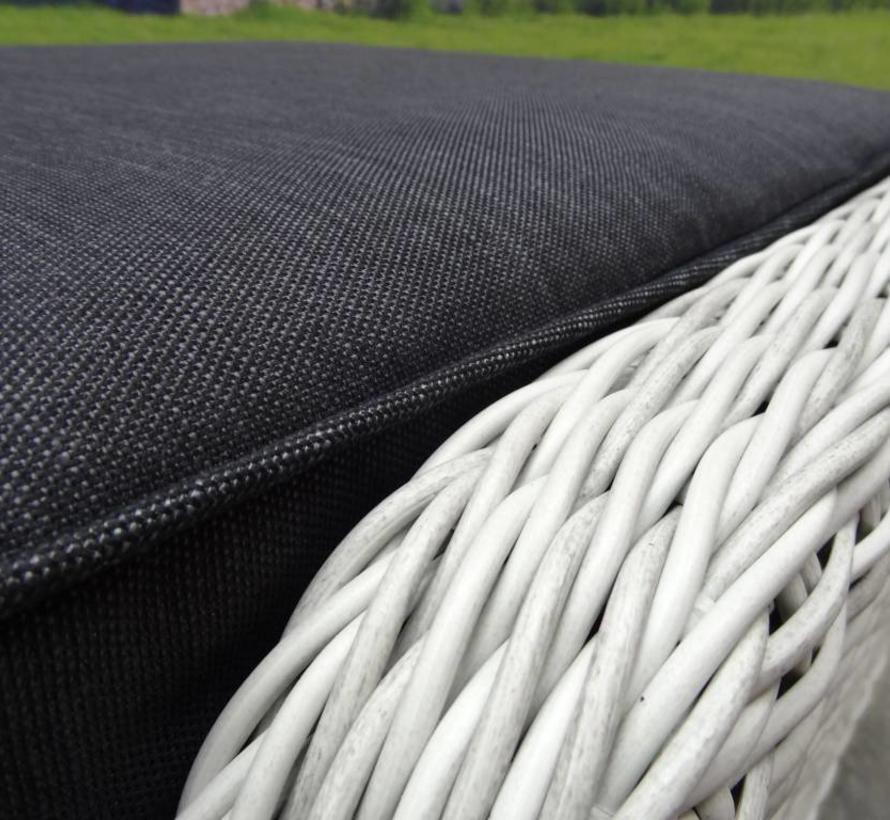 AVH XL voetenbank 72x59xH46 cm wit grijs