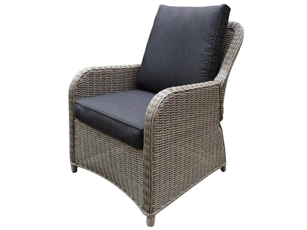 Bilbao XL lounge tuinstoel verstelbaar grijs