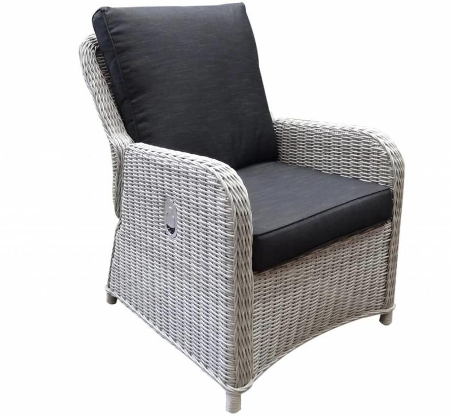 Bilbao XL lounge tuinstoel verstelbaar wit grijs