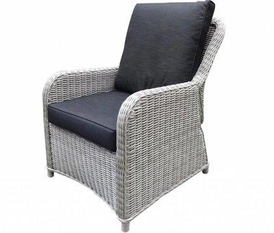 AVH-Collectie Bilbao XL lounge tuinstoel verstelbaar wit grijs