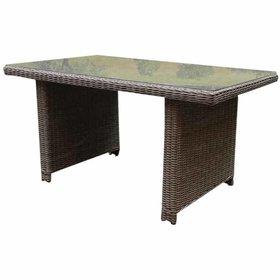 AVH-Collectie Bilbao XL lounge-diningtafel 140x80xH70 cm grijs