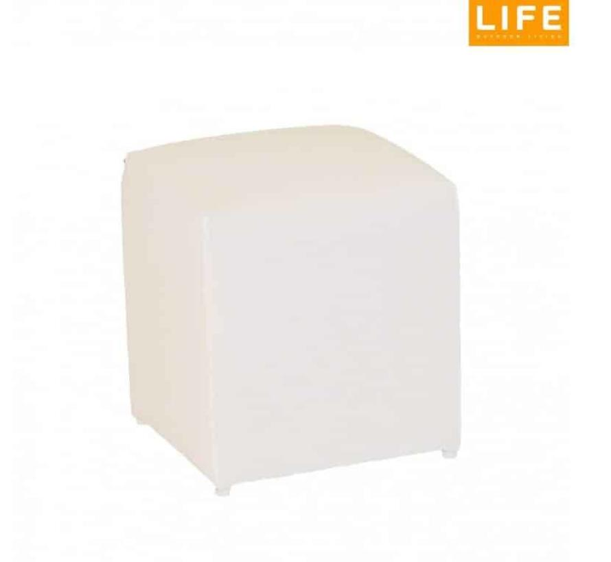 Breeze Poof white 45x45xH45 cm Life Outdoor Living