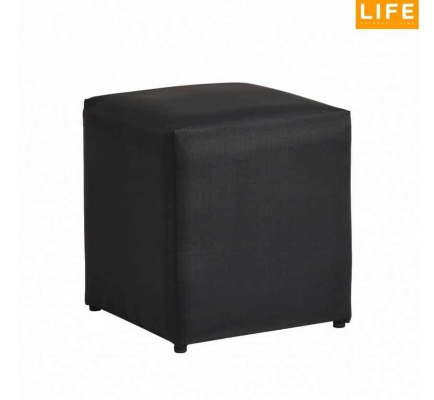 Breeze Poof zwart 45x45xH45 cm Life Outdoor Living