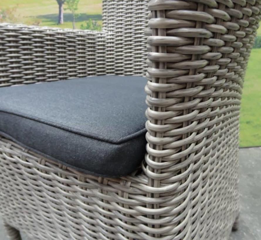 Capri dining tuinstoel grijs