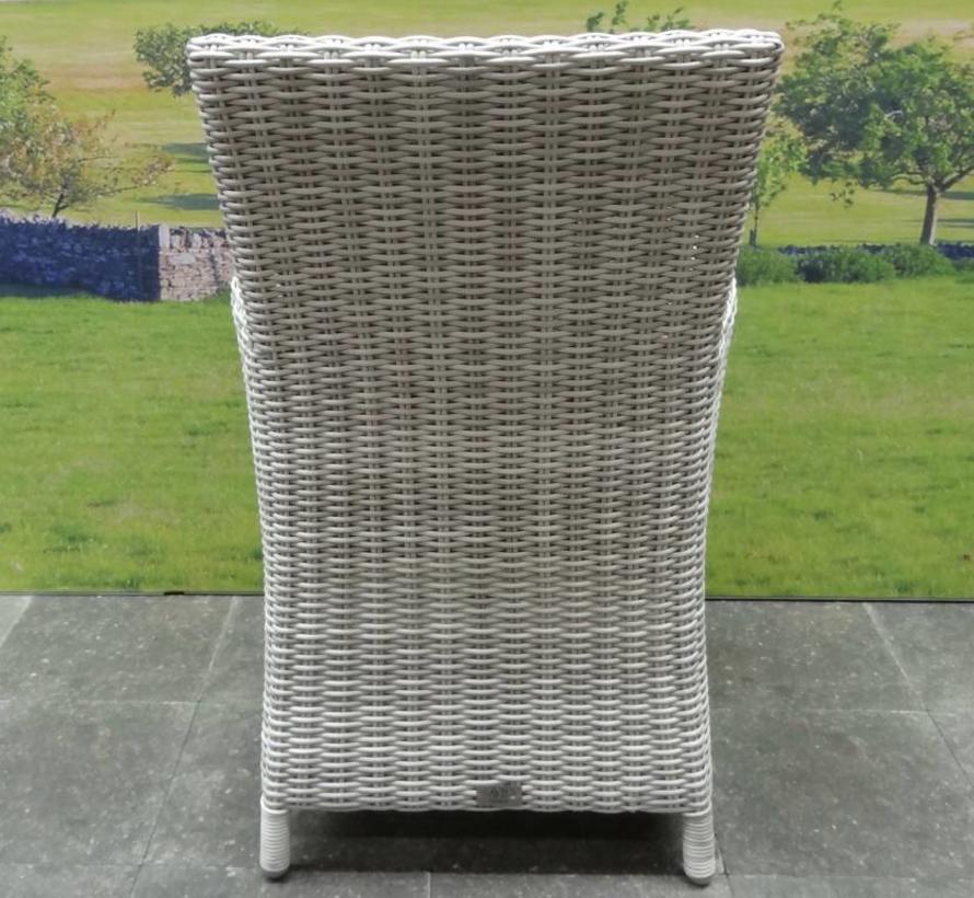 Capri dining tuinstoel wit grijs