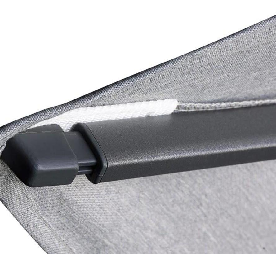 Challenger T2 premium zweefparasol 300x300 cm havanna