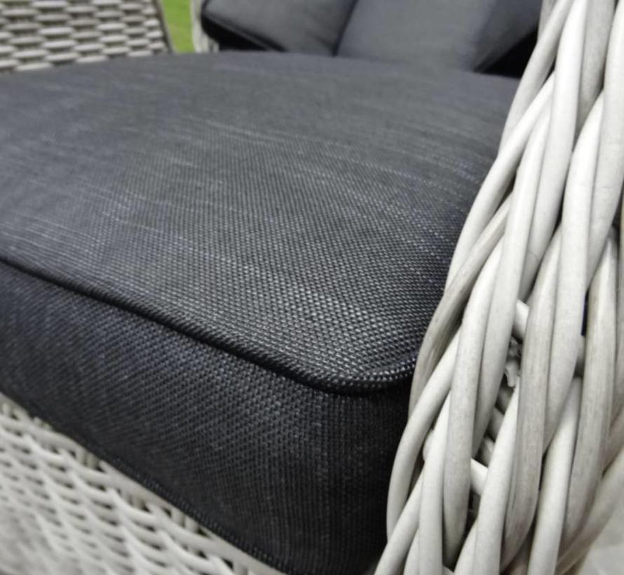 Darwin XL dining tuinstoel verstelbaar wit grijs