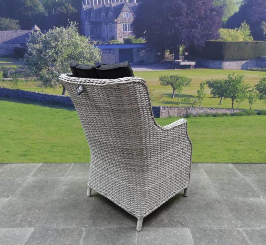 Darwin XL dining tuinstoel wit grijs