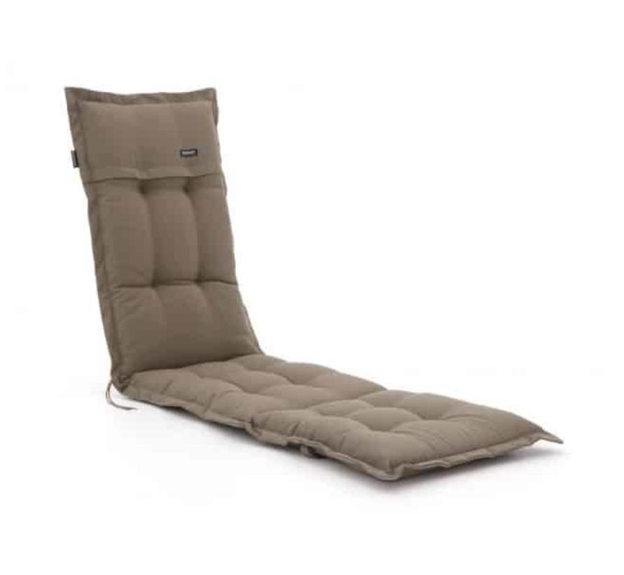Deckchair ligbed kussen 200x50 cm Rib liver
