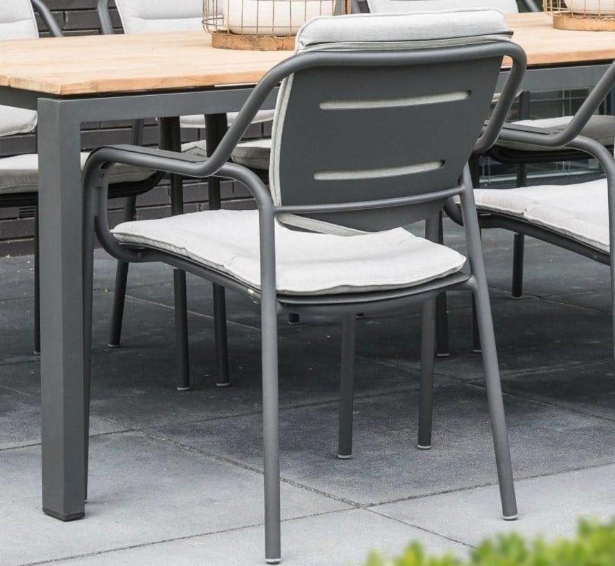 Eco dining tuinstoel stapelbaar aluminium antraciet 4-Seasons Outdoor