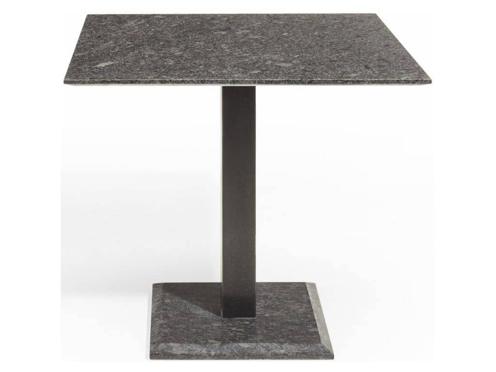 Edam dining tuintafel 80x80xH75 cm pearl black satinado graniet