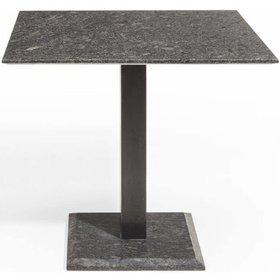 Studio 20 Edam dining tuintafel 90x90 cm pearl black satinado RVS graniet