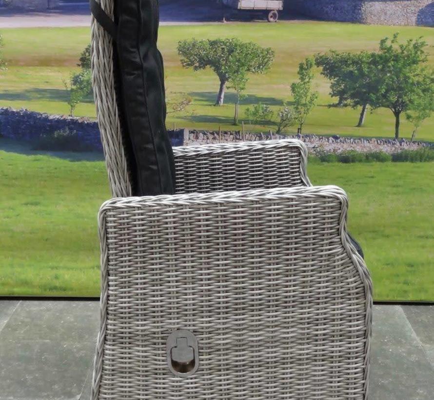 Empoli dining tuinstoel verstelbaar wit grijs