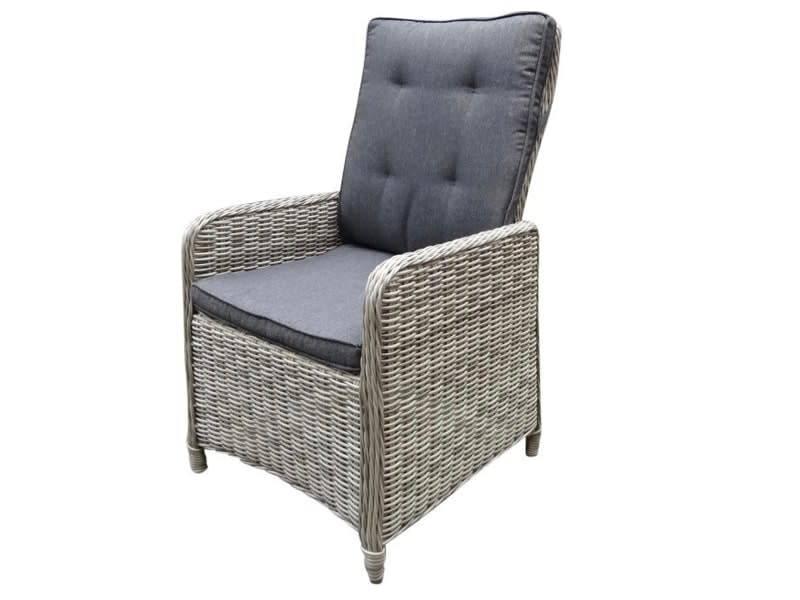 Empoli lounge tuinstoel verstelbaar wit grijs ovidius for Tuinstoel grijs