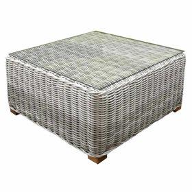 AVH-Collectie Ancona AVH lounge tuintafel 80x80 cm wit grijs