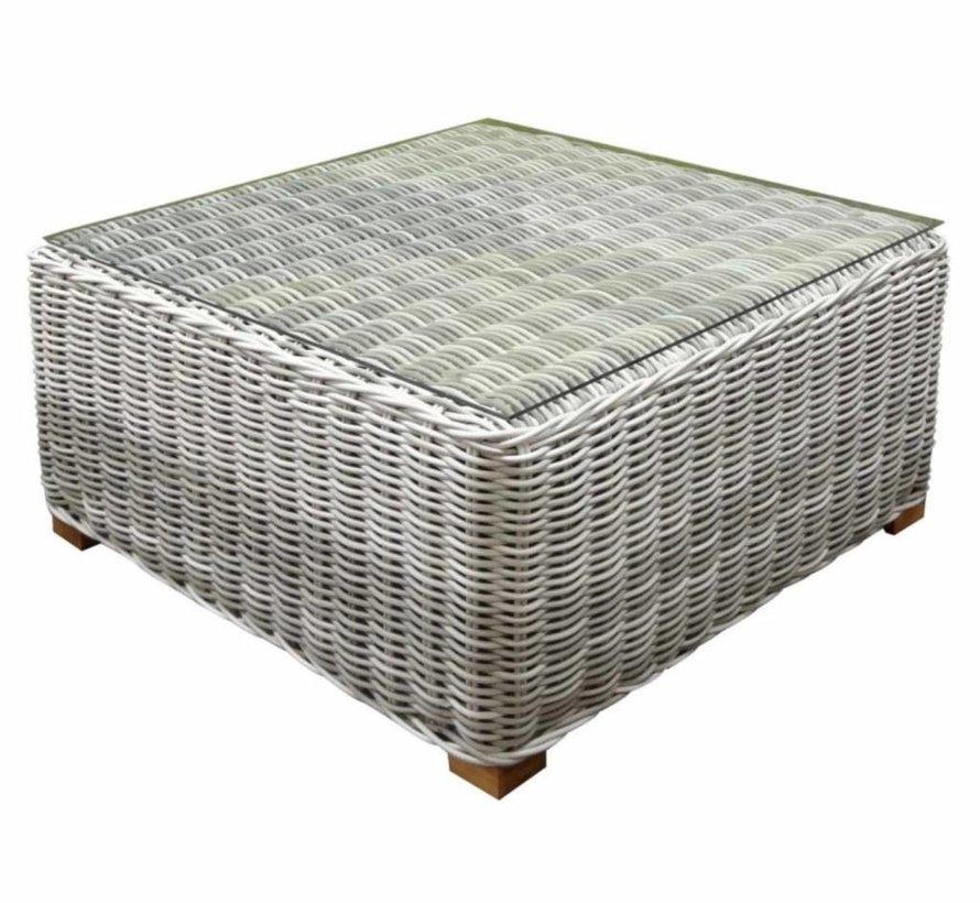 Ancona AVH lounge tuintafel 80x80 cm wit grijs