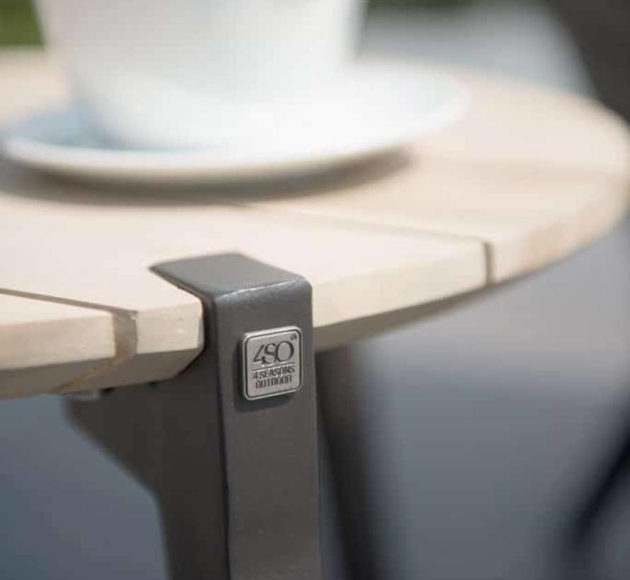 Gabor bijzettafel – set van twee - teak - aluminium poten 4-Seasons Outdoor