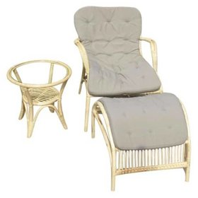 AVH-Collectie Helena lounge balkon set naturel rotan
